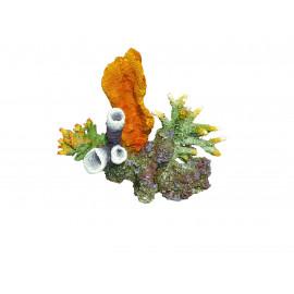 Decor resine corail sur roche 2 -  24x15x21 cm