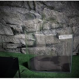 Aquarium cuve nue 39 l - 41 x 27 x 36 cm - demi-lune