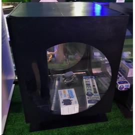 Aquarium Cube Hublot sur socle Noir 40 x 40 x 45 cm  70 litres