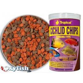 Cichlid chips - boite 1000 ml