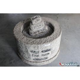 Fontaine de terrasse vieux puits diam. 68 cm