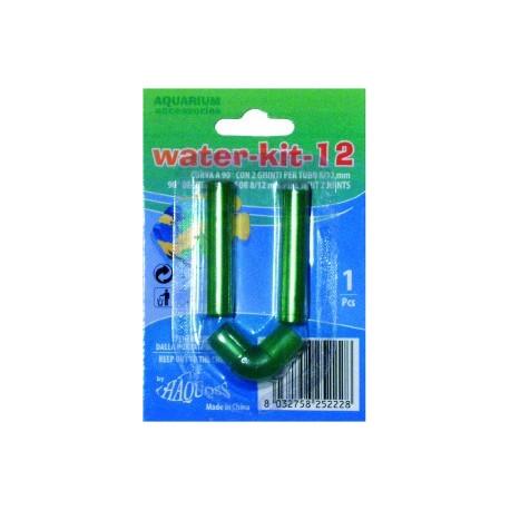 Coude 90° ferme avec 2 joints pour tuyau 8/12 mm