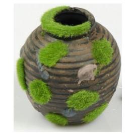 Déco-Vase cachette avec mousse 9 x 10  cm