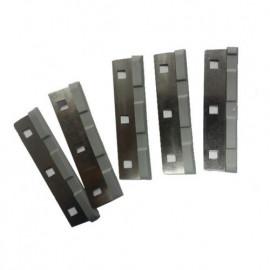 HS Aqua - Lot de 5 lames de rechange en acier inoxydable